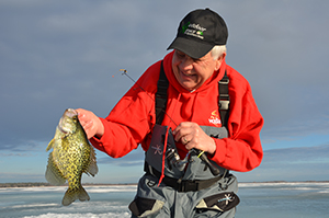 How to approach first ice for aggressive-biting panfish