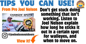 Pro Angler Joel Nelson, shares tips for youth through the Outdoor News Junior Pro Team