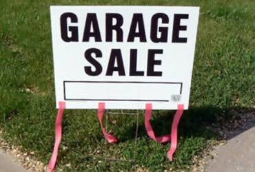 Hunting and fishing tip: check out some garage sales to get stocked up on some hunting and fishing gear