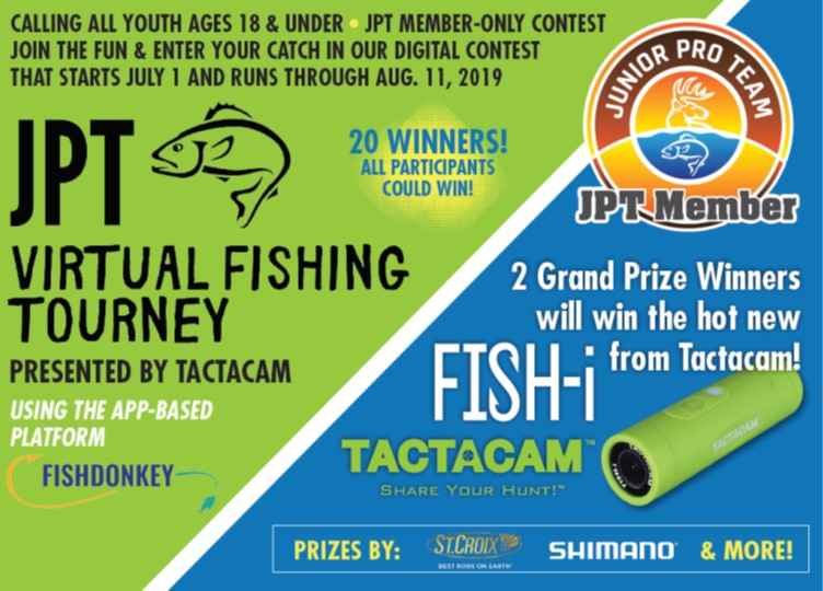 Outdoor News Junior Pro Team Virtual Fishing Tourney Presented by Tactacam