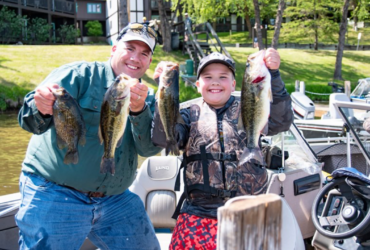 Fishing event is a win-win for father and son